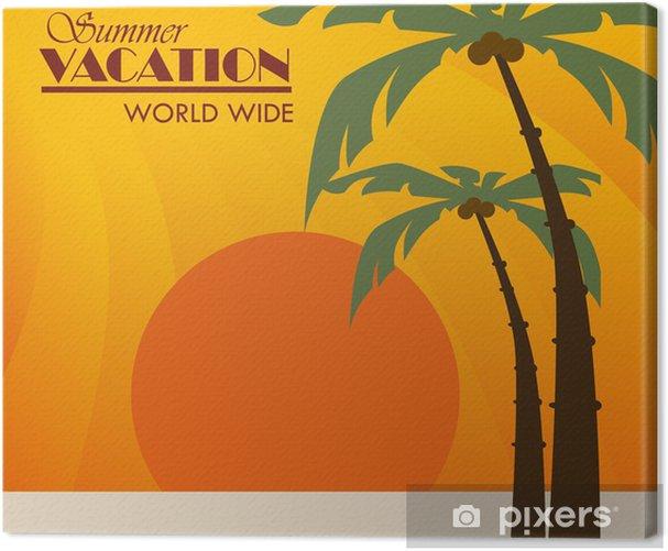 Tableau sur toile Conception d'été - Objets et accessoires