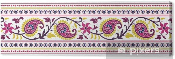 Tableau sur toile Conception de Paisley floral traditionnel de textile, royal Inde - Styles