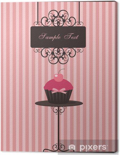 Tableau sur toile Conception de petit gâteau - Desserts et friandises