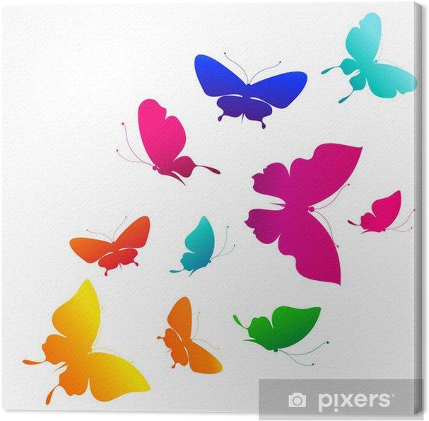 Tableau sur toile Conception papillons - Arrière plans