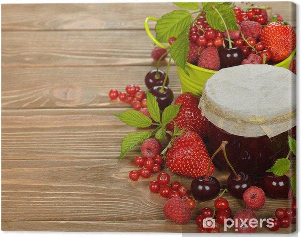 Tableau sur toile Confiture de petits fruits - Repas