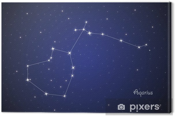 Tableau sur toile Constellation Aqarius - Ciel