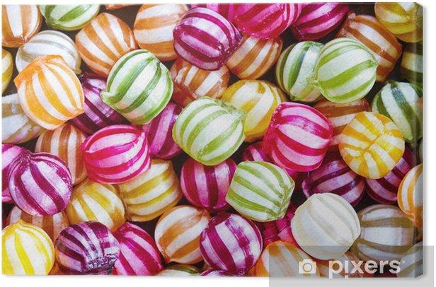 Tableau sur toile Contexte bonbons - Thèmes