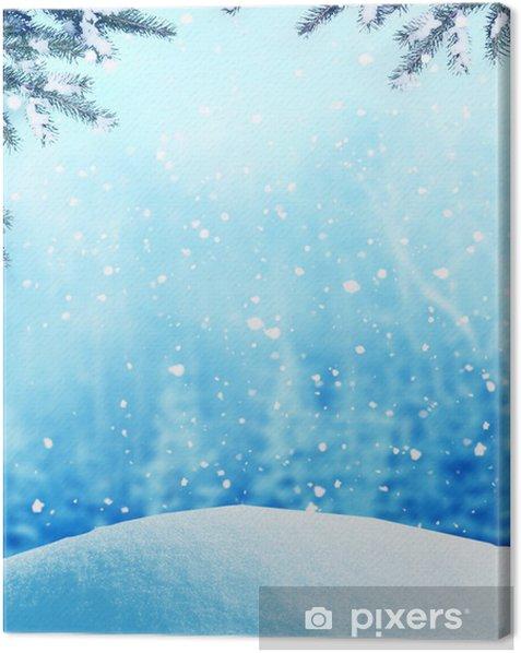 Tableau sur toile Contexte d'hiver - Fêtes internationales