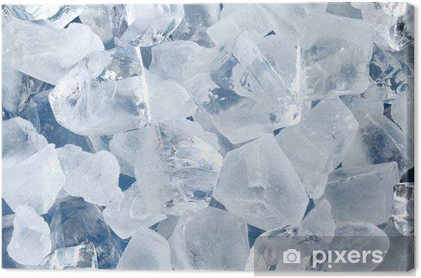Tableau sur toile Contexte sous la forme de cubes de glace - Eau