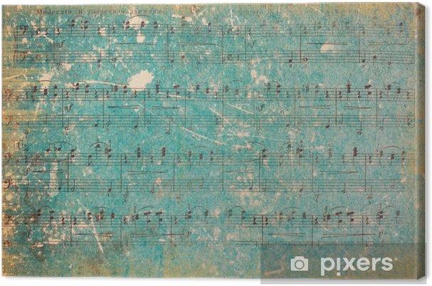 Tableau sur toile Contexte Vintage. Vintage Paper. Partition. - Ressources graphiques