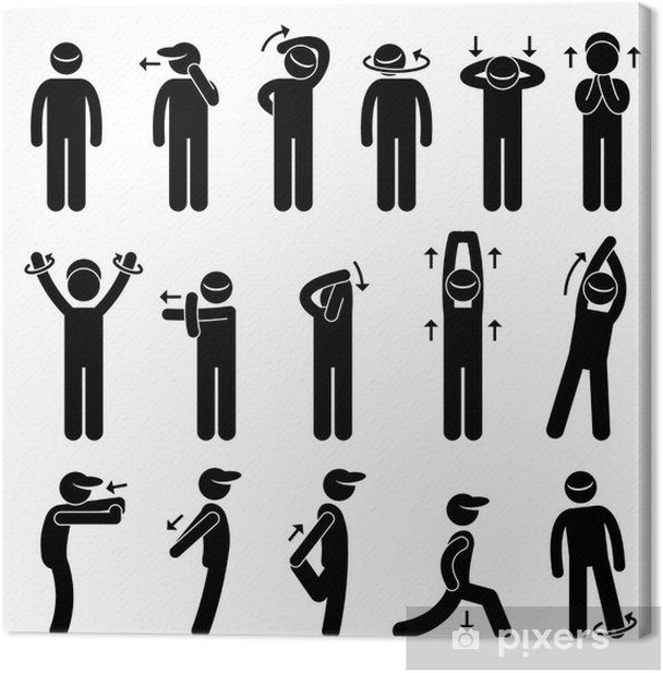 Tableau sur toile Corps Stretching exercice - Sports individuels