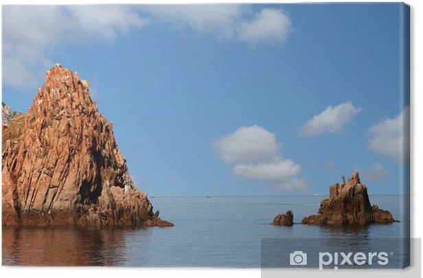 Tableau sur toile Corse du sud - Eau