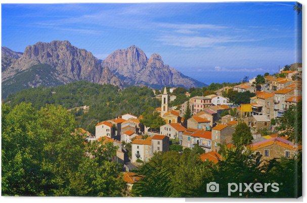 Tableau sur toile Corse, la zone portuaire: village d'Evisa - Paysages urbains