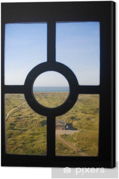 Tableau sur toile Côte à travers la fenêtre phare - Infrastructures