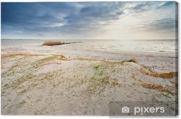 Tableau sur toile Côte de sable par Ijsselmeer, Hindeloopen - Eau