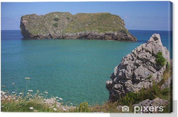 Tableau sur toile Côte Verte des Asturies - Europe