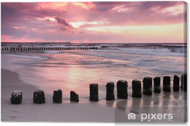 Tableau sur toile Coucher de soleil à la mer Baltique Calmness.Beautiful. - Mer et océan