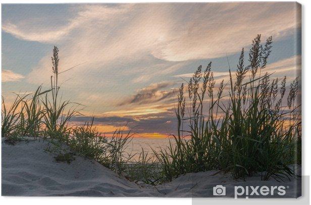 Tableau sur toile Coucher de soleil à la plage de Darss à la mer Baltique, Mecklenburg-Ouest - iStaging