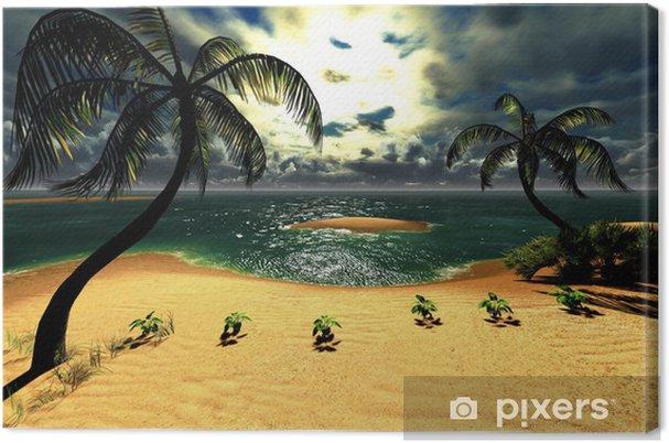 Tableau sur toile Coucher de soleil dans un paradis tropical d'Hawaï - Nature et régions sauvages