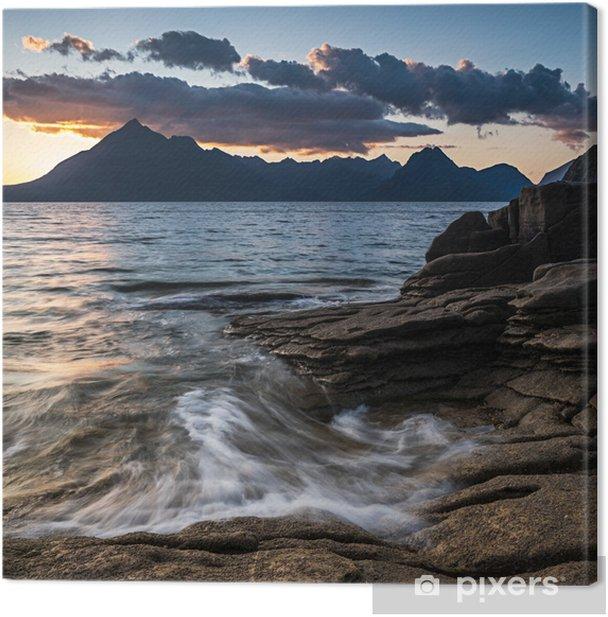 Tableau sur toile Coucher de soleil elgol - Paysages