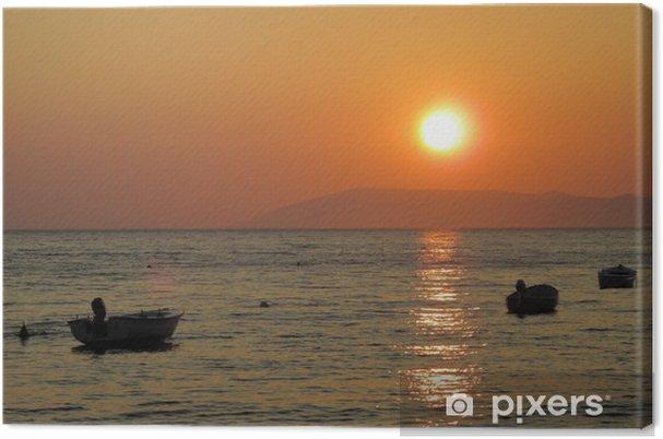 Tableau sur toile Coucher de soleil en mer Adriatique - Europe