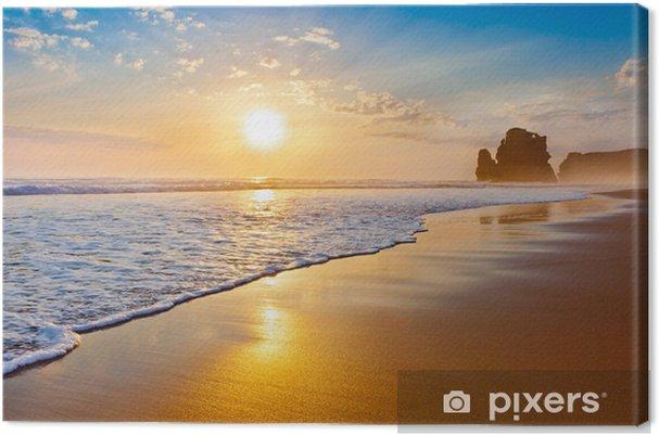 Tableau sur toile Coucher de soleil océan. - Thèmes