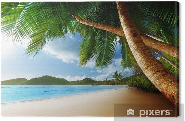 Tableau sur toile Coucher de soleil sur la plage, l'île de Mahé, Seychelles - Thèmes