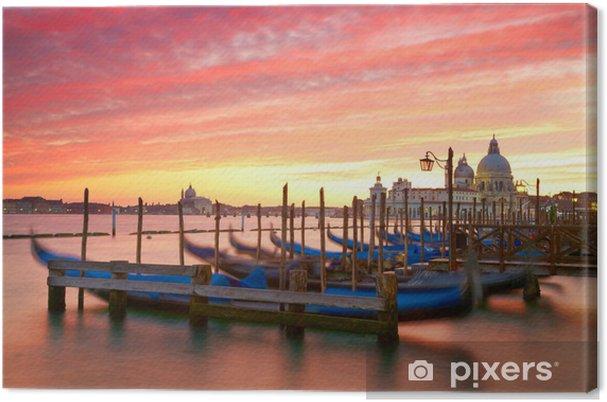 Tableau sur toile Coucher de soleil sur le Grand Canal. Venise, Italie - Villes européennes