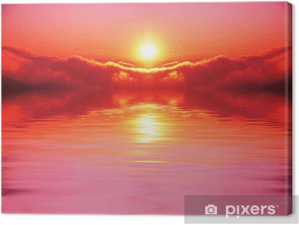 Tableau sur toile Coucher de soleil - Ciel