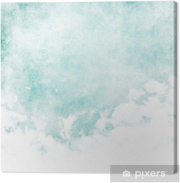 Tableau sur toile Couleur de l'eau comme le nuage sur fond de texture de papier - Styles