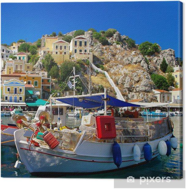 Tableau sur toile Couleurs de la Grèce série - Île de Symi - Thèmes