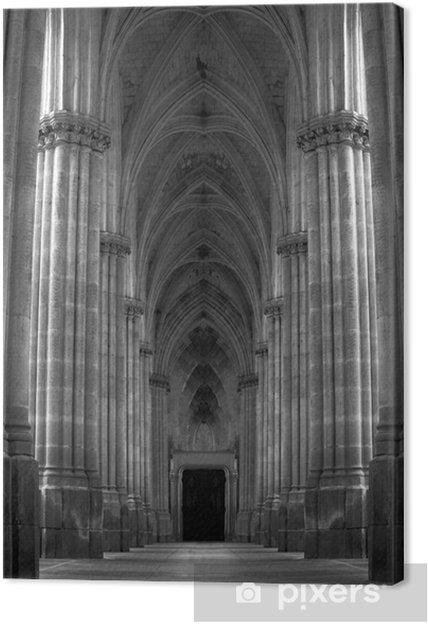 Tableau sur toile Couloir piliers - Colonnes et d'Arcs