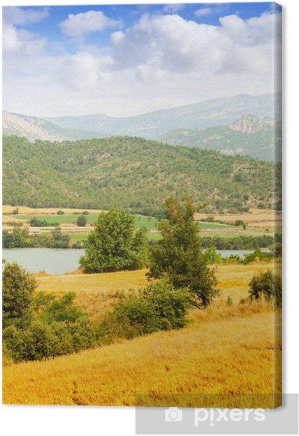 Tableau sur toile Countryland au vallée - Saisons