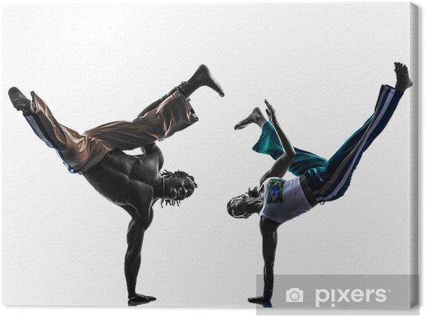 Tableau sur toile Couple de danseurs de capoeira 43666b22c59