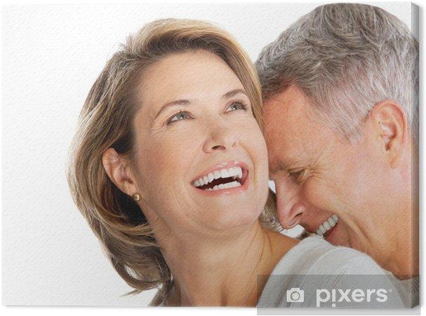 Tableau sur toile Couple de personnes âgées - Couples