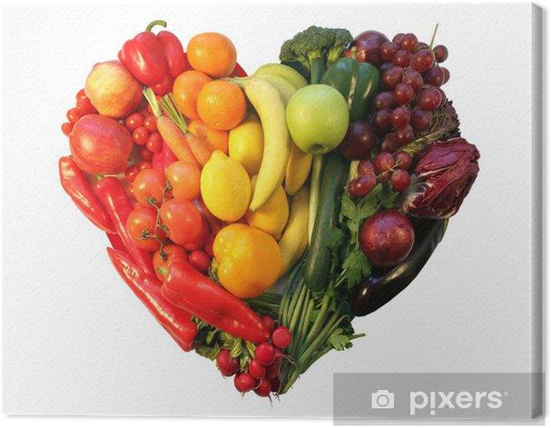 Tableau sur toile Cœur de fruits et légumes vol. 2 - Sticker mural