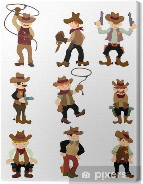Tableau sur toile Cow-boy de bande dessinée icône - Hommes