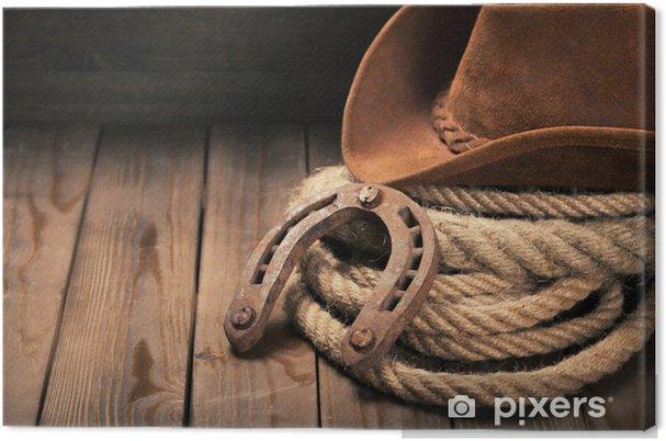 Tableau sur toile Cowboy, rodéo, chapeau. - Propriétés privées