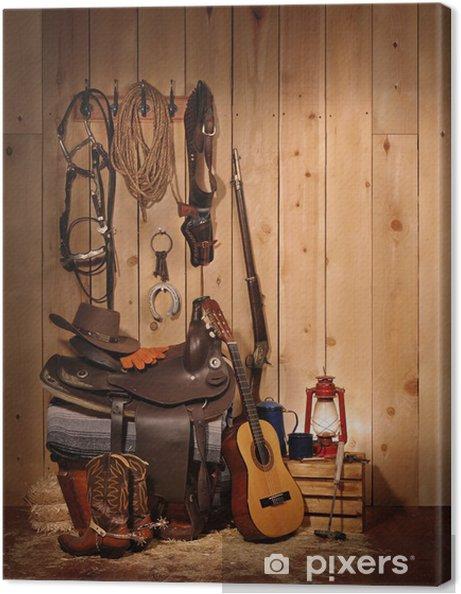 Tableau sur toile Cowboy Still Life - Arrière plans