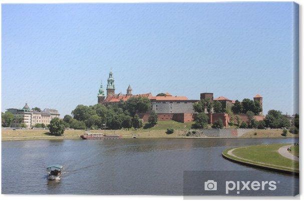 Tableau sur toile Cracovie: château royal de Wawel, en Pologne - Europe