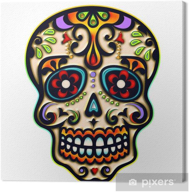 Tableau sur toile Crâne de sucre, Mexique, crâne, Ornement - iStaging