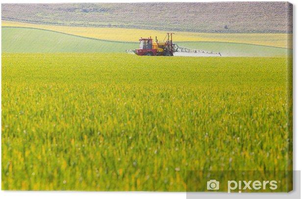 Tableau sur toile Crop pulvérisateur dans un champ - Agriculture