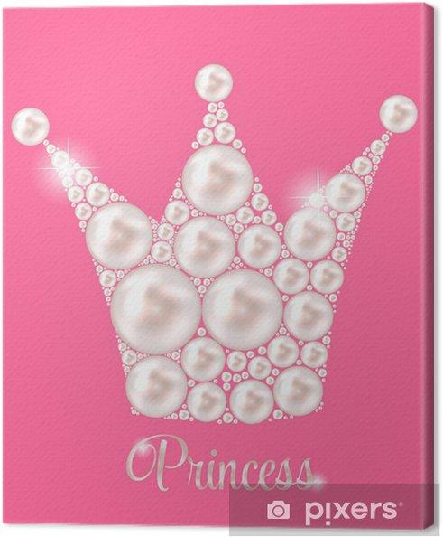 Tableau sur toile Crown Princess Perle fond illustration vectorielle. - Destin