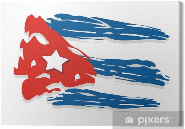 Tableau sur toile Cuba drapeau - Amérique
