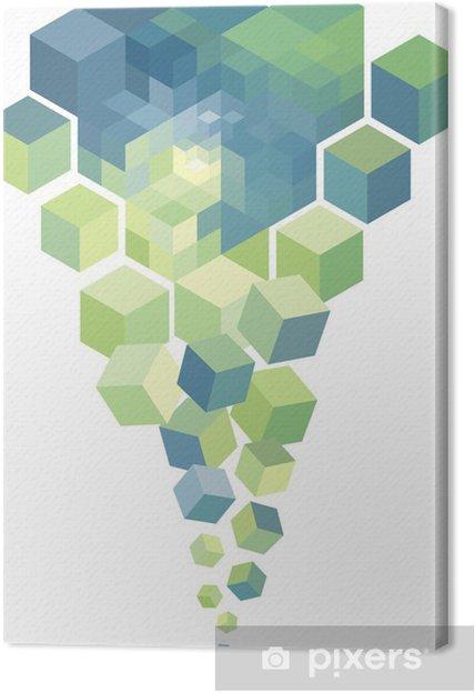 Tableau sur toile Cubes 3d abstrait, fond vectoriel - Arrière plans