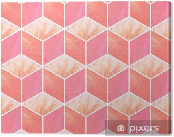 Tableau Sur Toile Cubes 3d Modele Sans Couture Abstrait Avec Des