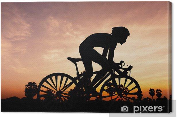 Tableau sur toile Cyclisme triathlon à temps crépuscule - Divertissements
