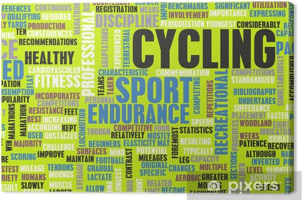 Tableau sur toile Cyclisme - Concepts