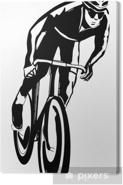 Tableau sur toile Cycliste, illustration vectorielle - Sports individuels