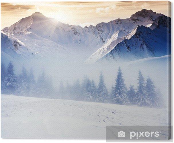 Tableau sur toile D hiver -