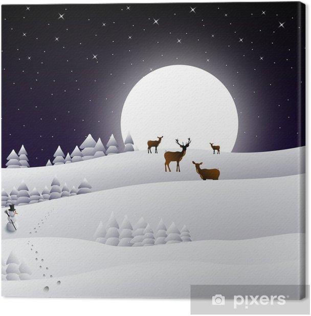 Tableau sur toile D hiver - Saisons