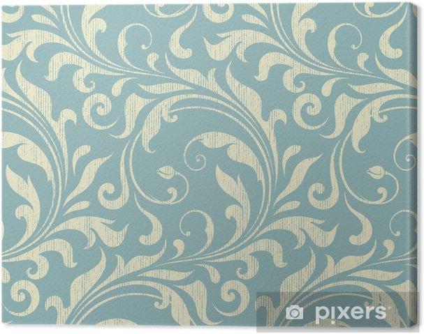 Tableau sur toile Damassé Vintage seamless -