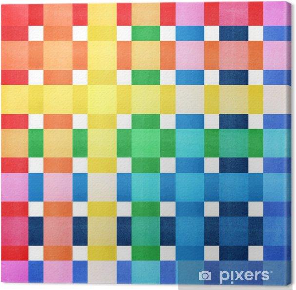 Tableau sur toile Damier vecteur de fond coloré - Arrière plans