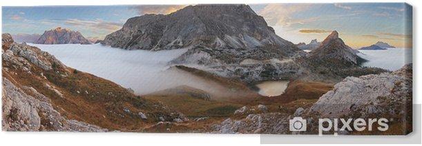 Tableau sur toile Dans les Dolomites - passo Valparola - Europe